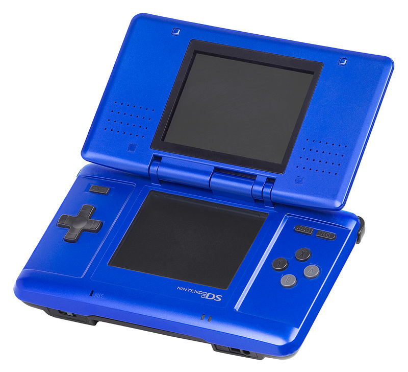 """Nintendo-DS-Fat-Blue"" by Evan-Amos - Own work. Licensed under Public Domain via Commons - http://commons.wikimedia.org/wiki/File:Nintendo-DS-Fat-Blue.jpg#/media/File:Nintendo-DS-Fat-Blue.jpg"