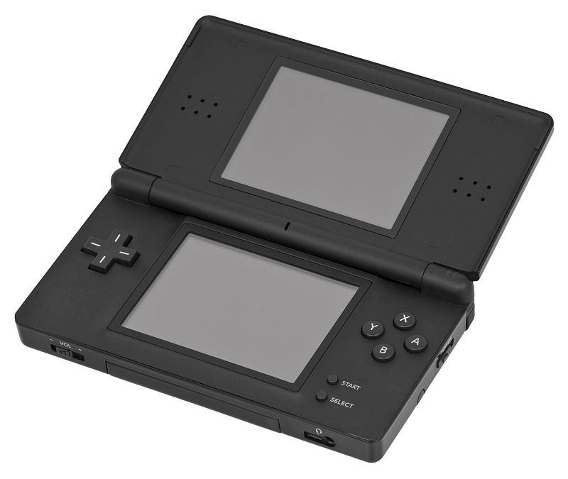 """Nintendo-DS-Lite-Black-Open"" by Evan-Amos - Own work. Licensed under CC BY-SA 3.0 via Commons - http://commons.wikimedia.org/wiki/File:Nintendo-DS-Lite-Black-Open.jpg#/media/File:Nintendo-DS-Lite-Black-Open.jpg"