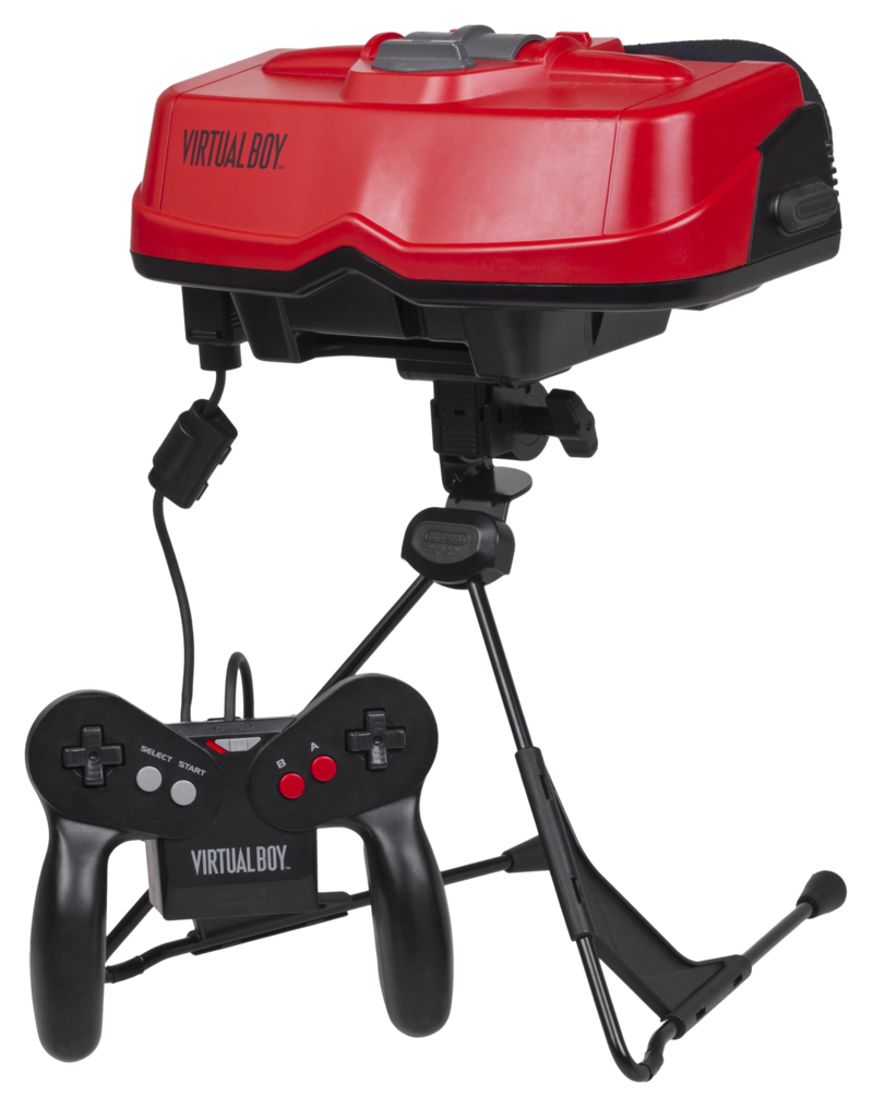 """Virtual-Boy-Set"" by Evan-Amos - Own work. Licensed under Public Domain via Commons - http://commons.wikimedia.org/wiki/File:Virtual-Boy-Set.png#/media/File:Virtual-Boy-Set.png"